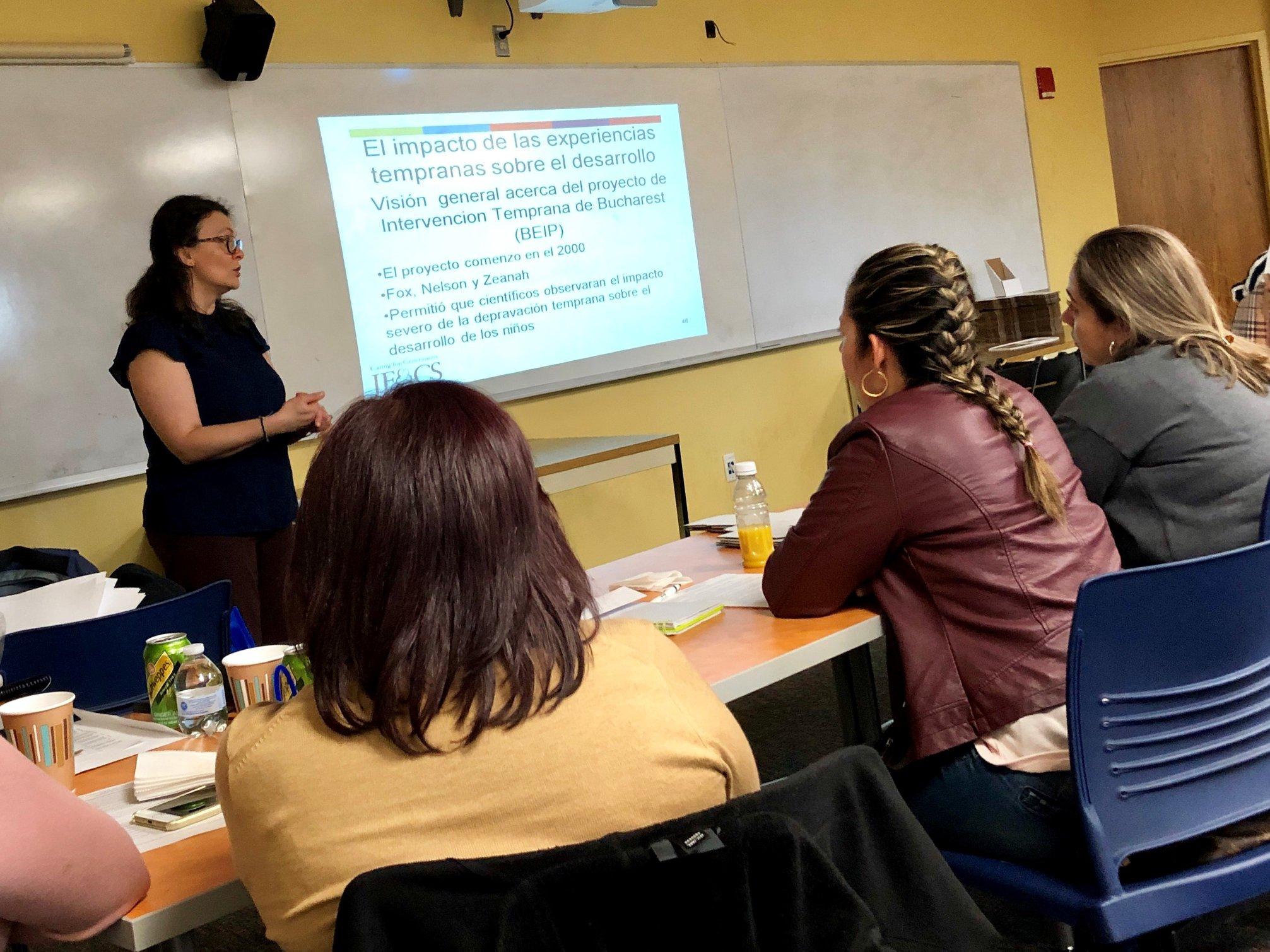 Women attending training class