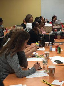 Women in classroom